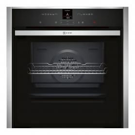 Neff B57CR23N0B Pyrolytic Slide & Hide 59.5cm Built In Electric Single Oven - Stainless Steel